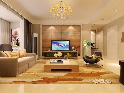 现代简约-136.3平米三居室装修设计