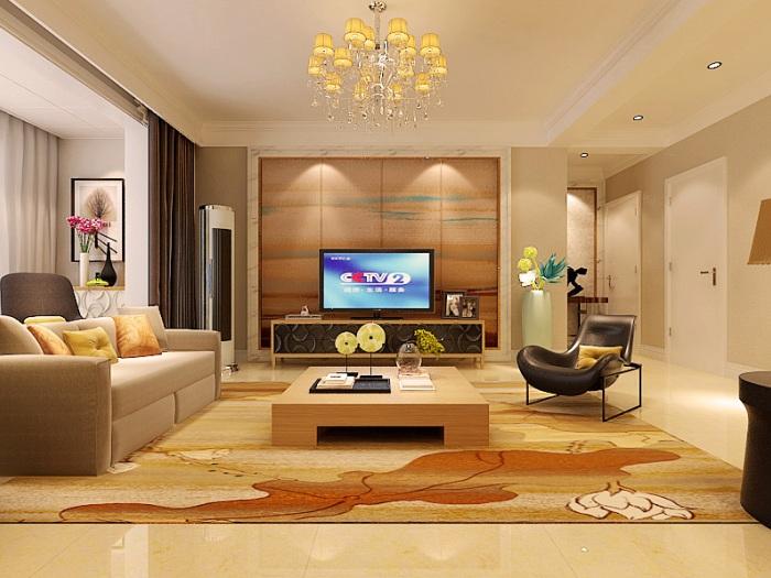 现代简约-136.3平米三居室-装修设计