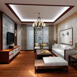 中式风格四居室装修效果图