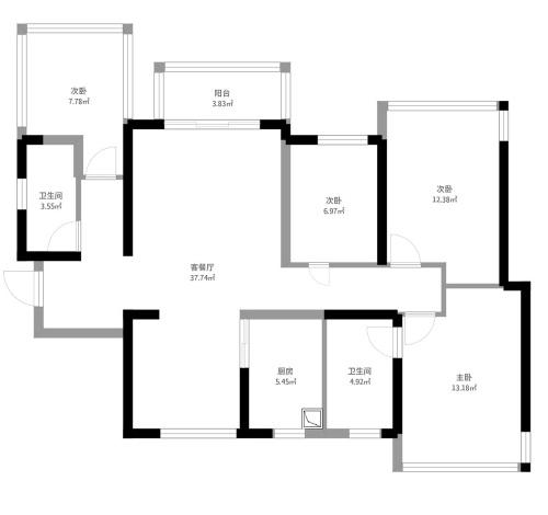 荣和千千树-121平米-中式风格-装修案例