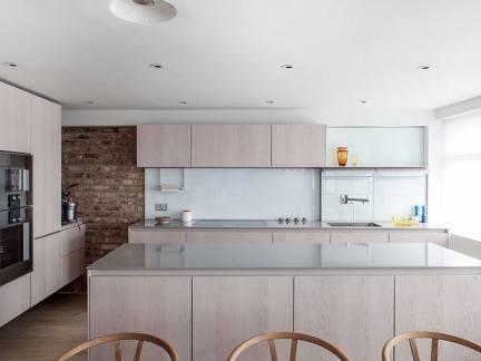 浅木色浪漫北欧风格厨房装修实景图