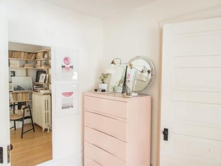 典雅欧式风格公寓浪漫粉色储物柜图片