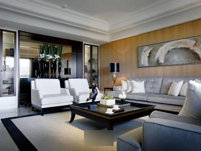 现代简约-118平米三居室装修设计