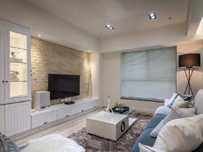 现代简约-130平米二居室装修样板间