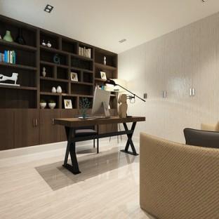 简欧风格三居室书房装修效果图