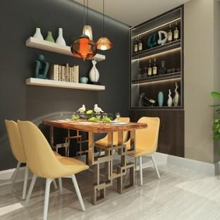 简欧风格三居室餐厅装修效果图