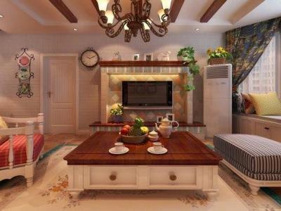 田园风格-126平米三居室装修样板间
