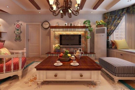 田园风格-126平米三居室-装修样板间