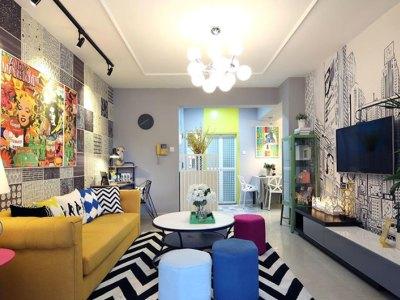 多元素色彩-31平米一居室装修样板间