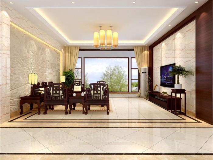 中式风格-300平米五居室-装修样板间