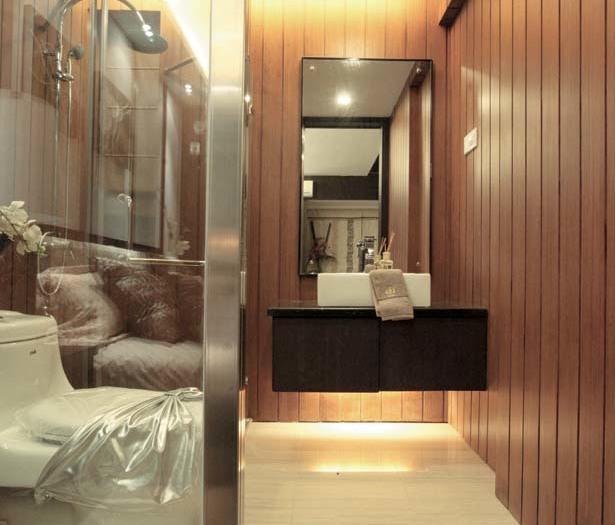 日韩风格-92.76平米二居室-装修样板间