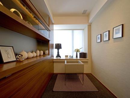 环保木质家居简约风格书房空间装修设计