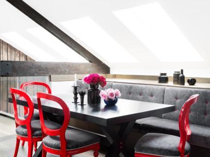 典雅个性混搭风格阁楼餐厅装修图片