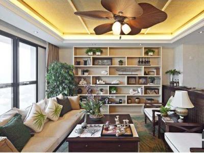 东南亚风格-94.76平米二居室装修样板间