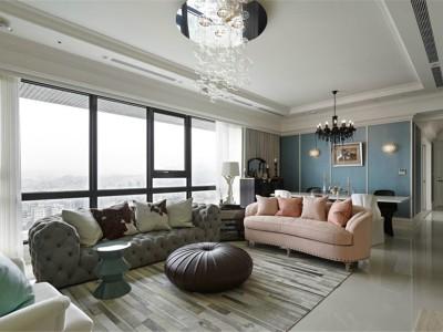 混搭风格-178平米三居室装修样板间