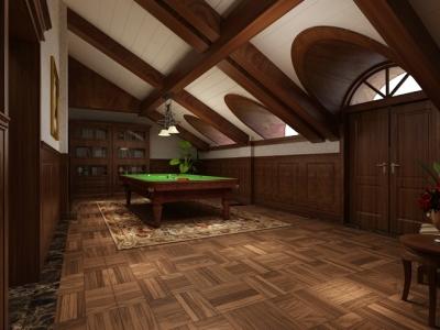 欧美风情-1400平米别墅装修样板间