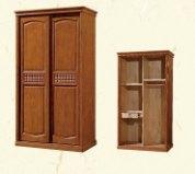 进口橡木衣柜实木三开门两开门推拉简约中式图片