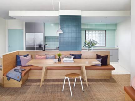 清新文艺现代风格客厅原木色家具装修图