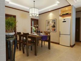 中式古典-101平米三居室装修样板间