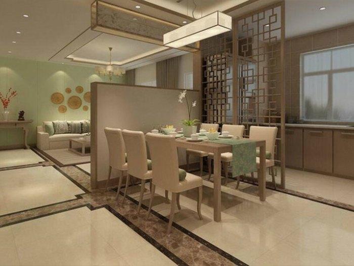 现代中式风格-142平米四居室-装修样板间