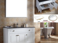 YING鹰卫浴实木美式浴室柜组合洗脸台盆池厕所洗手漱台含龙
