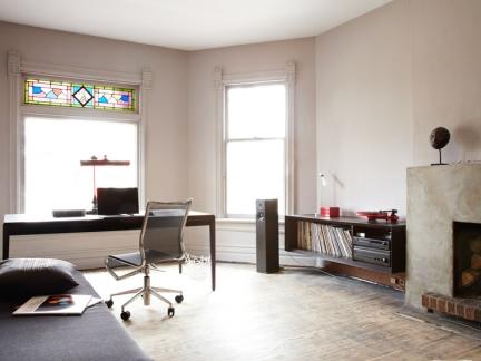 北欧风格洁净书房装修实景图