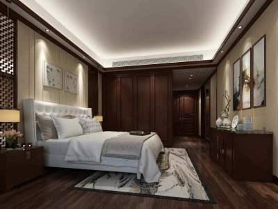 现代中式-200平米四居室装修样板间