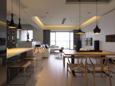 日韩风格-92平米二居室装修样板间