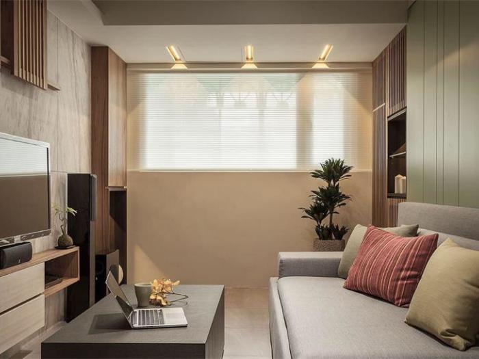 日韩风格-60平米二居室-装修样板间