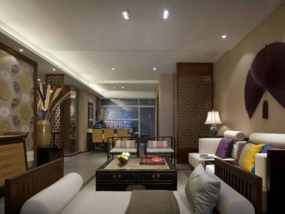 东南亚风格-142平米四居室装修样板间