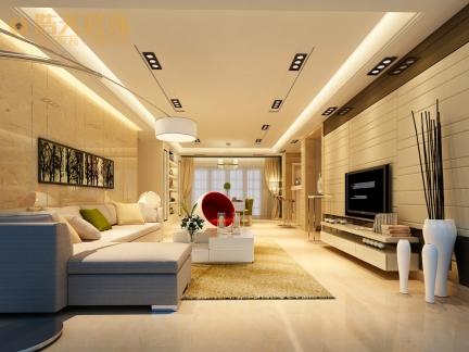 现代简约-136平米四居室装修样板间