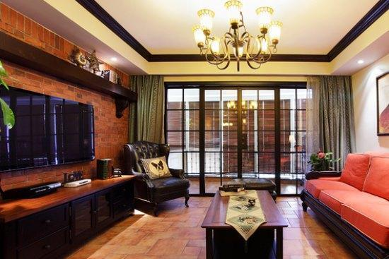 中式古典-99.76平米三居室-装修样板间