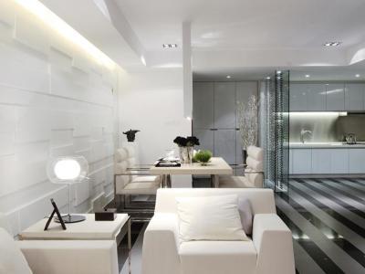 现代简约-130.53平米三居室装修设计