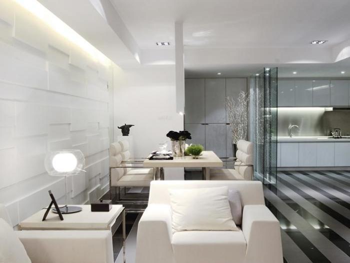 现代简约-130.53平米三居室-装修设计