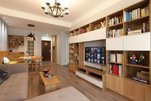 混搭风格-97平米二居室-装修样板间