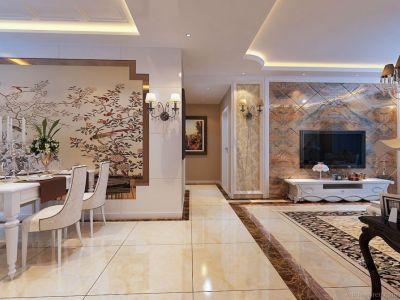 现代简约-133.81平米三居室装修设计