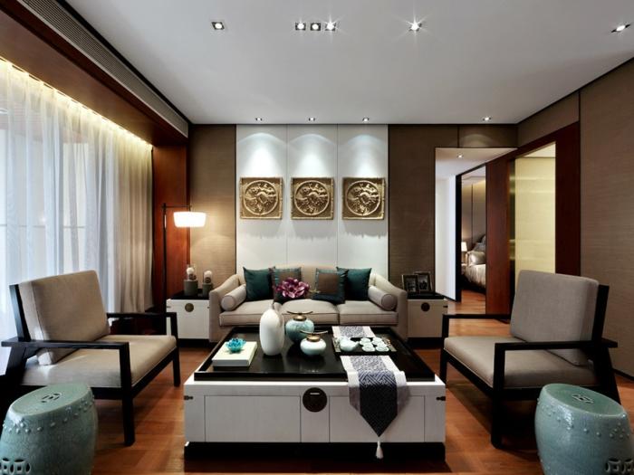 中式古典-106平米三居室-装修样板间