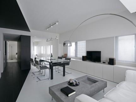 硬朗轻奢现代简约风格时尚公寓效果图
