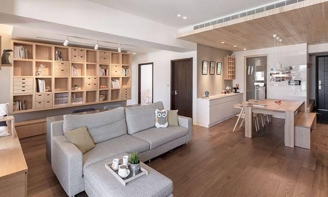 简欧风格-102平米三居室-装修样板间