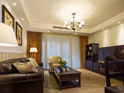欧美风情-118平米三居室装修样板间