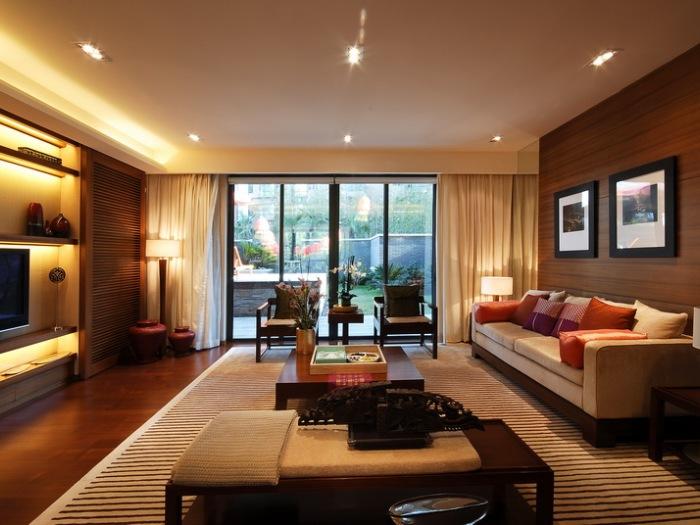 东南亚风格-140平米四居室-装修样板间