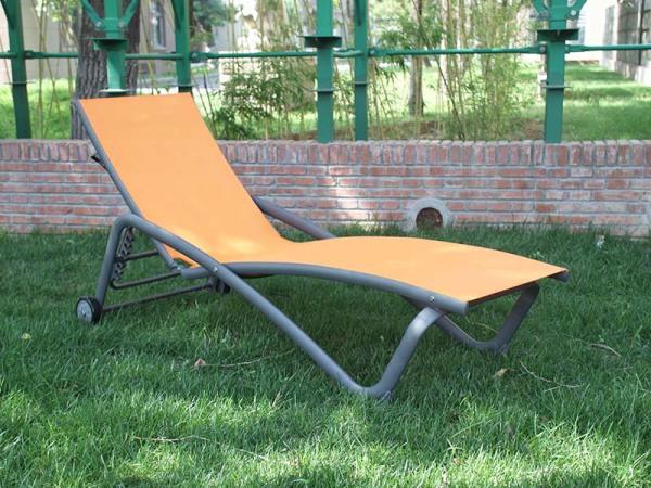 馨宁居特斯林网布躺床庭院休闲彩色躺椅单人透气沙滩椅