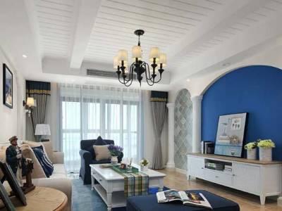 地中海风格-121平米二居室装修样板间
