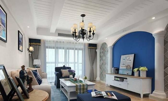 地中海风格-121平米二居室-装修样板间