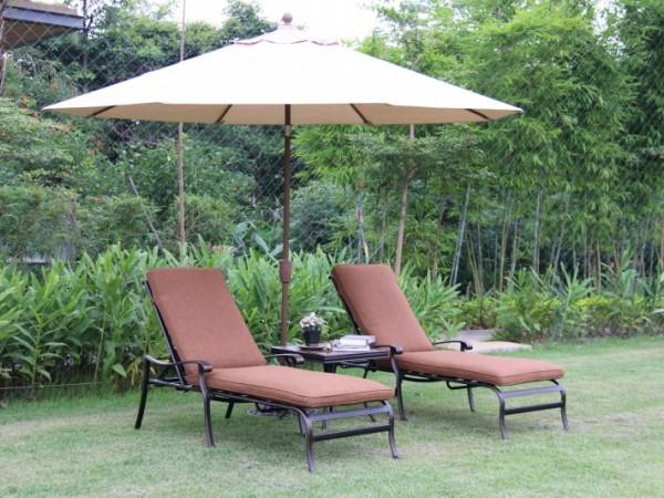欧式泳池沙滩铸铝躺床,花园庭院午休躺椅,酒店会所躺椅家具