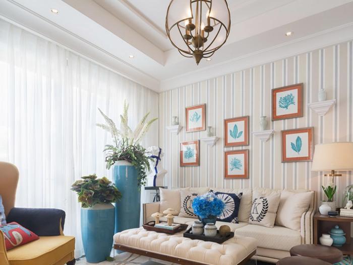 地中海风格-139平米三居室-装修样板间