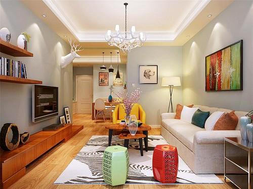 欧式风格-90平米二居室-装修样板间