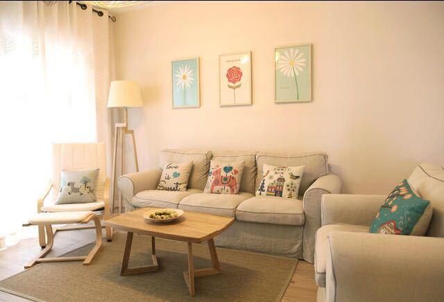 日韩风格-108平米三居室-装修样板间