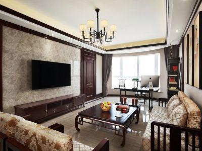新中式-136平米二居室装修样板间