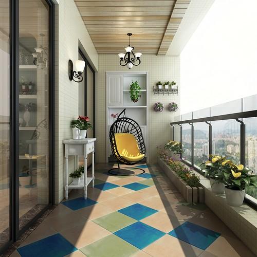 欧美风情-122平米三居室-装修样板间